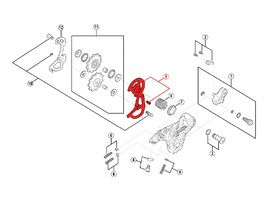Shimano Caja externa para cambio Saint M810 - Caja corta