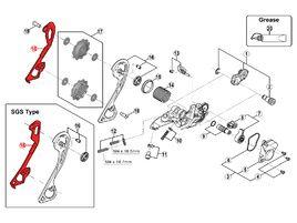 Shimano Caja Interna para Cambio SLX M670 / M675 / XT M786
