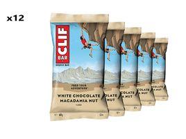 Clif Bar Caja de 12 barritas energeticas sabor chocolate blanco y macadamia