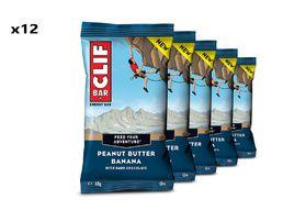 Clif Bar Caja de 12 barritas energeticas sabor Manteca de cacahuete y Banana