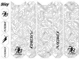 Slicy Kit de protectores de cuadro Sublimistick PureBike (12 patch)
