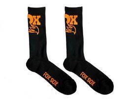 Fox Racing Shox Calcetines Negro y Naranja 2020