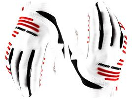 100% Guantes R-Core White 2020