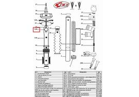 Ice Eje de brida superior para tija Lift (Parte n°12B)