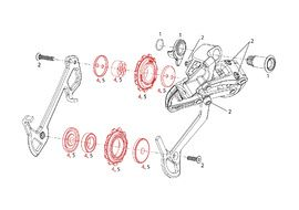 Sram Rulinas 11 dientes para X7 y X9 10 velocidades (2007-2009)