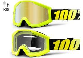 100% Gafas Strata Youth Neon Yellow 2018
