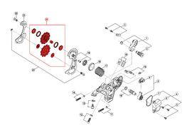 Shimano Rulinas para cambio 10 velocidades Saint M820