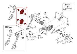 Shimano Rulinas para cambio 10 velocidades SLX M663 / M670 / M675, Zee M640