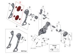 Shimano Rulinas para cambio 11 velocidades XT M8000