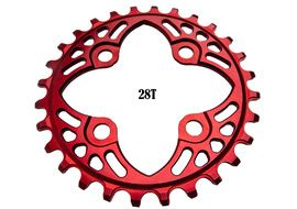 Absolute Black Plato Narrow Wide 64 mm Rojo 2020