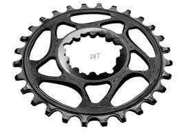 Absolute Black Plato Narrow Wide Direct Mount Sram GXP Negro 2020