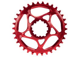Absolute Black Plato Narrow Wide Direct Mount Sram GXP Rojo 2020