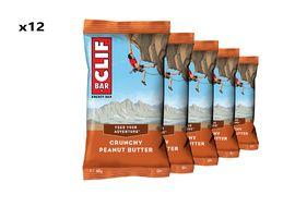 Clif Bar Caja de 12 barritas energeticas sabor mantequilla de cacahuete