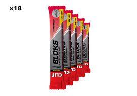 Clif Bar Caja de 18 x 6 Bloks energeticos sabor fresa