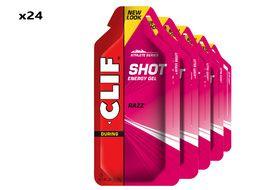 Clif Bar Caja de 24 geles energeticos gusto frambuesa