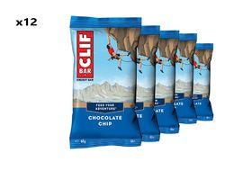 Clif Bar Caja de 12 barritas energeticas sabor pepitas de chocolate