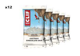 Clif Bar Caja de 12 barritas energeticas sabor coco y chocolate