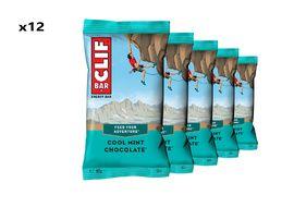 Clif Bar Caja de 12 barritas energeticas sabor menta chocolate