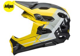 Bell Casco Super DH MIPS Amarillo / Gris / Negro
