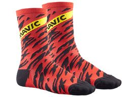 Mavic Calcetines Altos Deemax Pro Rojo 2018