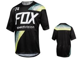 Fox Maillot Demo Drafter manches courtes – Noir – L