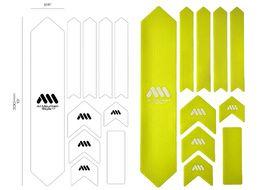 All Mountain Style Kit de Protectores de cuadro XL Color (10 partes) - Amarillo 2017