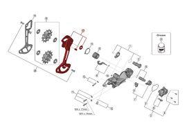 Shimano Caja Externa para Cambio XTR M9120 - Caja larga