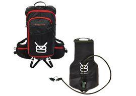 V8 Equipment Mochila de hidratación FRD 11.1 Negro / Rojo con deposito Elite