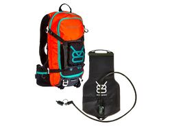 V8 Equipment Mochila de hidratación FRD 11.1 Negro / Naranja con deposito Elite