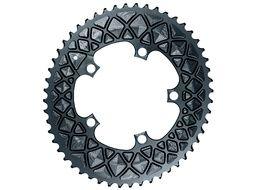 Absolute Black Plato Premium ovalado 110 mm 5 tornillos para Sram - Gris 2020