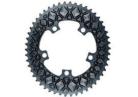 Absolute Black Plato Premium ovalado 110 mm 5 tornillos (no Sram) - Gris 2020