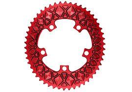 Absolute Black Plato Premium ovalado 110 mm 5 tornillos (no Sram) - Rojo 2020