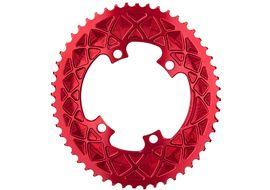 Absolute Black Plato Premium ovalado 110 mm 4 tornillos (Shimano asimetrico) - Rojo 2020