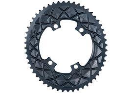 Absolute Black Plato Premium ovalado 110 mm 4 tornillos (Shimano asimetrico) - Gris 2020
