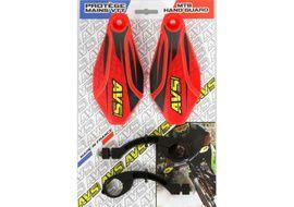AVS Protectores de Mano con pata aluminio - Rojo / Negro