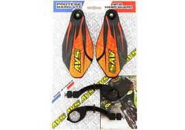 AVS Protectores de Mano con pata aluminio - Negro / Naranja