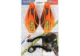 AVS Protectores de Mano con pata aluminio - Naranja / Negro