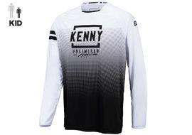 Kenny Maillot Elite Niño White Black 2021