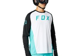 Fox Maillot Defend Mangas Lungas Teal 2021