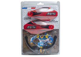 AVS Protectores de Mano con pata aluminio - Negro / Rojo