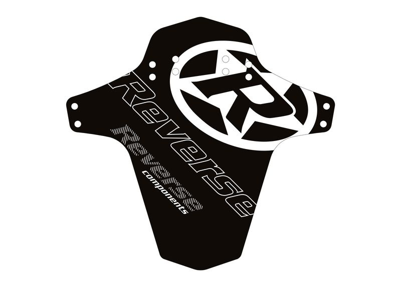 Reverse Components Guardabarro Logo Negro / Blanco 2019