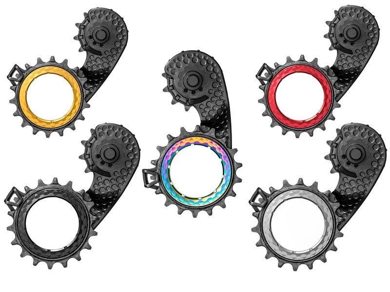 Absolute Black Patilla Hollowcage Carbono y rodamientos ceramica para DA9100 y U8000 2021